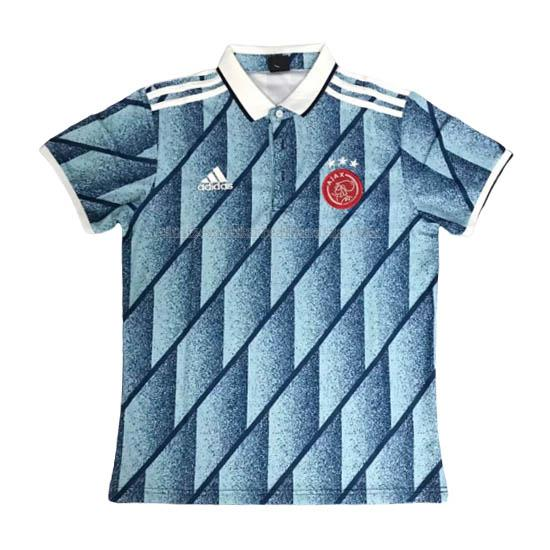 camiseta polo ajax azul 2020-2021